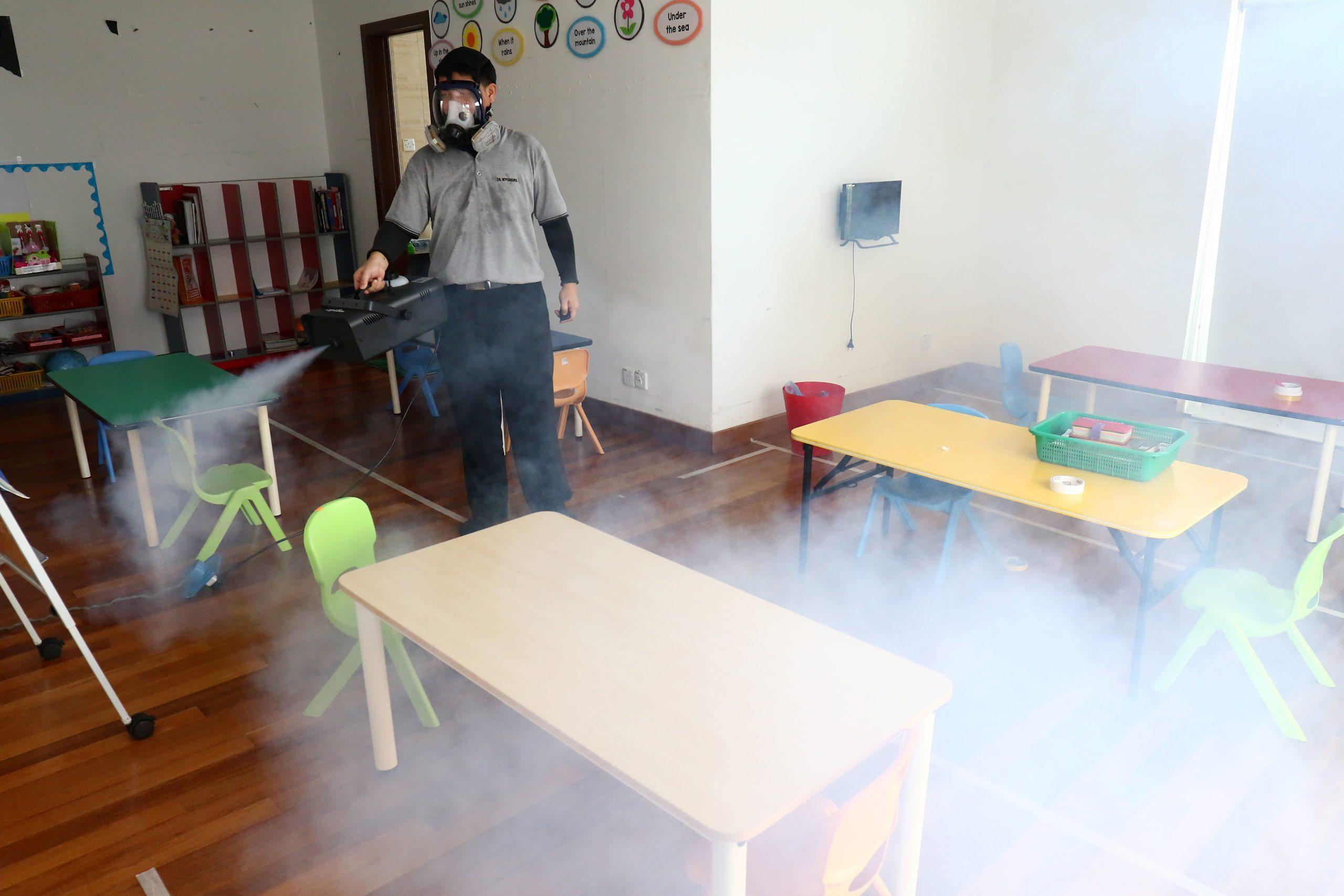 sanitización educación